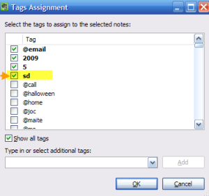 Evernote GTD: toggling Someday